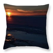 Winter Sunrise At Lake Simcoe  Throw Pillow