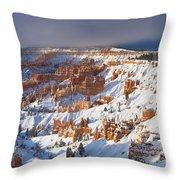 Winter Sunrise Bryce Canyon National Park Utah Throw Pillow