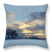 Winter Sunset - Lambton County Throw Pillow