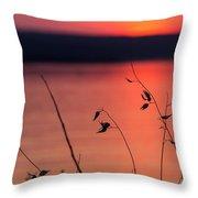 Winter Sunset I Throw Pillow