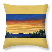 Winter Sunset In El Dorado Throw Pillow