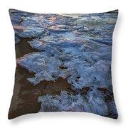 Winter Sunset On Fire Island Throw Pillow
