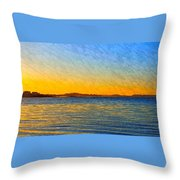 Winter Sunset Over Ipswich Bay Throw Pillow