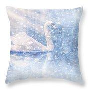 Winter Swan Throw Pillow