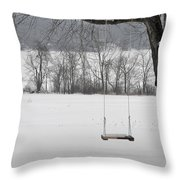 Winter Swing Throw Pillow