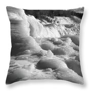 Winter Texture Throw Pillow