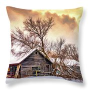Winter Thoughts 2 - Paint Throw Pillow