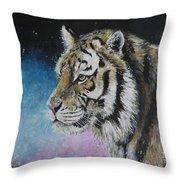 Winter Tiger Throw Pillow