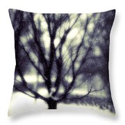Winter Tree 3 Throw Pillow by Perry Webster