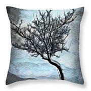 Winter Tree II Throw Pillow