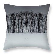 Winter Tree Symmetry Long Horizontal Throw Pillow
