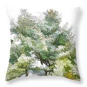 Winter Trees On Snow 1 Throw Pillow