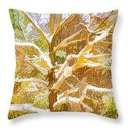 Winter Trees On Snow 2 Throw Pillow