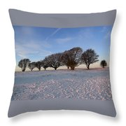 Winter Trees On The Ring Throw Pillow