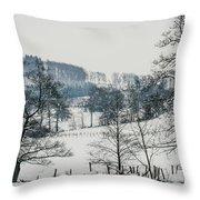 Winter Trees Solitude Landscape Throw Pillow