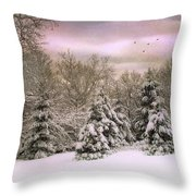 Winter Twilight Throw Pillow