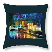 Winter Vibrations Throw Pillow