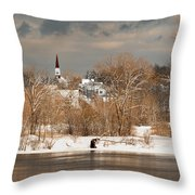 Winter View Of Allenstown Throw Pillow