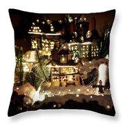 Winter Village Throw Pillow