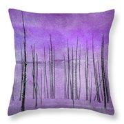 Winter Violet  7913violet Throw Pillow