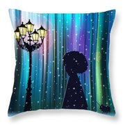 Winter Walk In The Magical Forest Throw Pillow
