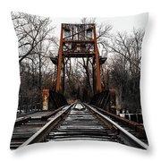 Winter Walk - Orange Throw Pillow