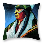 Winter Warrior Throw Pillow