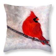 Winter Watch Throw Pillow