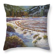 Winter Wheat Throw Pillow