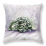 Winter Wind Throw Pillow