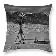 Winter Windmill Throw Pillow