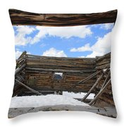 Winter Window 2 Throw Pillow