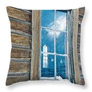 Winter Windows Throw Pillow