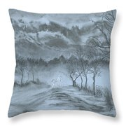 Winter With My Lover Throw Pillow