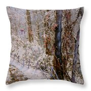 Winter Wonderland Throw Pillow by Ben Kiger