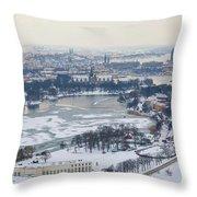 Winter Wonderland In Stockholm Throw Pillow