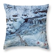 Winter Wonderland Of Minnehaha Falls  Throw Pillow