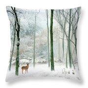 Winter Woodland Throw Pillow