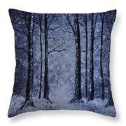 Winter Woods Eve Throw Pillow