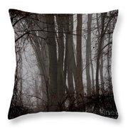 Winter Woods Throw Pillow