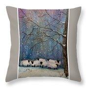 Winter Wool  Throw Pillow