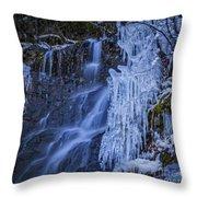 Winterfalls Throw Pillow