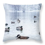 Winterlong Throw Pillow