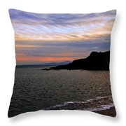 Winter's Beachcombing Throw Pillow