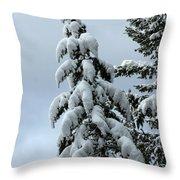 Winter's Burden Throw Pillow