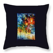 Winter's Chill Wind Throw Pillow