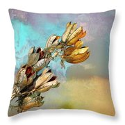 Winters Day Desert Yucca Throw Pillow