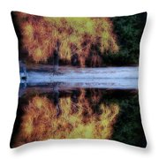 Winters' Embers Throw Pillow