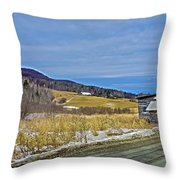 Winters End Throw Pillow