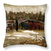 Winter's End Throw Pillow